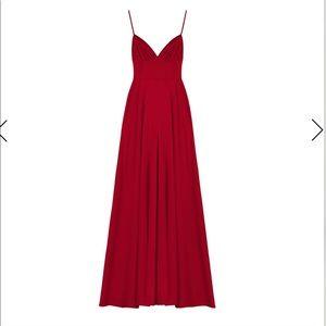 Radiating red dress